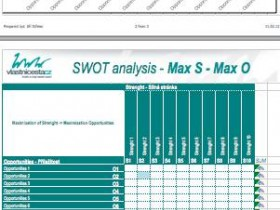 SWOT analysis and MAX-MAX strategy in practical steps