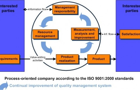 Process oriented organization according to ISO 9001: 2000